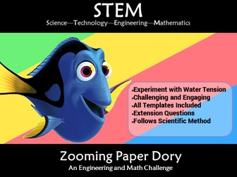 STEM Zooming Paper Dory Water Tension: A Science and Engineering Challenge