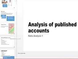 Analysis of Published Accounts - Performance Ratios - GCSE Full Lesson