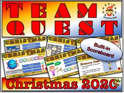 Team Quest Christmas 2020 - Team Building Quiz for KS3