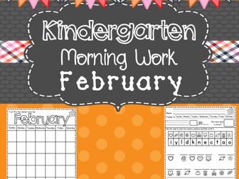 Kindergarten Morning Work (February)