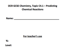 Set of resources for revision and testing  of OCR Gateway Combined Science C4.1