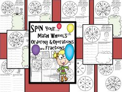 Spin Your Math Wheels Ordering & Operations with Fractions