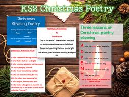KS2 Christmas Poetry - 3 lessons