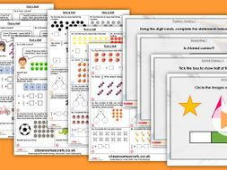 Year 2 Find a Half Spring Block 4 Step 3 Maths Lesson Pack