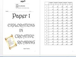 Revision Booklet: AQA Language Paper 1 by English271217