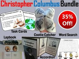 Christopher Columbus Task Cards and Activities Bundle
