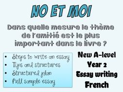 A Level: Essay Writing - French Resource