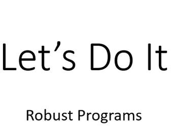 GCSE Computer Science 9-1 Robust Programs