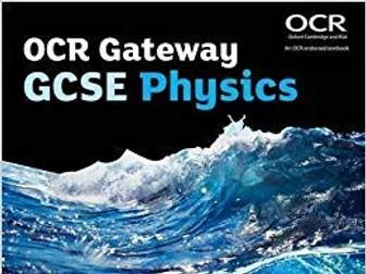 P5 Energy COMPLETE LESSONS GCSE OCR GATEWAY PHYSICS (9-1)