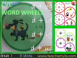 CVC Word Wheels