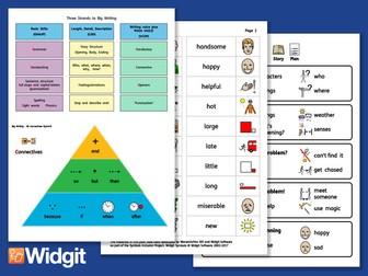 Big Writing - Vocabulary Development with Widgit Symbols