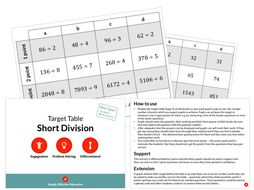 Short Division (Target Table)