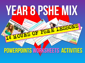 Year 8 PSHE 14 Lessons