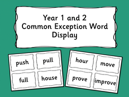 Year 1 and 2 Common Exception Word Displays