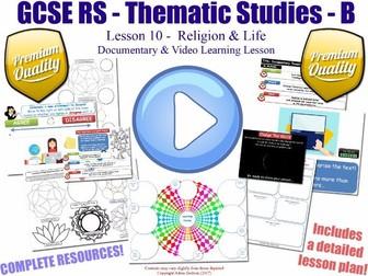 Documentary & Video Worksheet Lesson [GCSE RS - Religion & Life - L10/10] Theme B