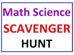 Math and Science SCAVENGER HUNT with Lesson Plan (55 Questions)