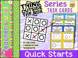 Thinking Skills: Think Outside of the Box Series ~ Quick Starts