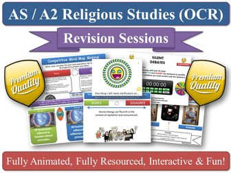 12 Revision Sessions - AS Religious Studies (OCR) - 'Philosophy of Religion' and 'Religion and Ethics'