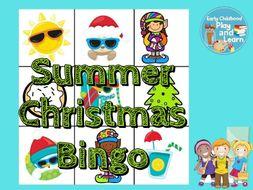 Summer Christmas Bingo