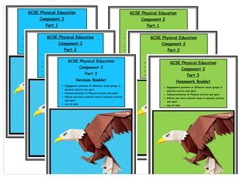 GCSE PE - Edexcel - Component 2 - Complete Revision and Homework Booklets