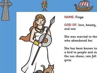 Viking Gods Powerpoint and Worksheet