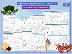 KS1 Differentiated Dot-to-Dot - Under the Sea