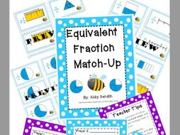 Equivalent Fraction Match Up - Aligned with Common Core {3.NF.a & 3.NF.b}