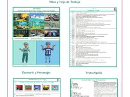 Friendship Spanish Video and Worksheet