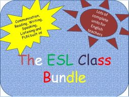ESL complete class bundle - 11 complete unit worksheets for EAL teachers