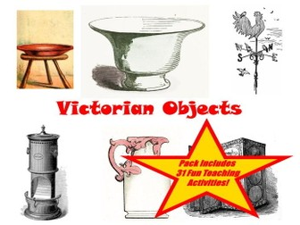 30 Images Of Victorian Household Objects PowerPoint Presentation + 31 teaching ideas for the cards