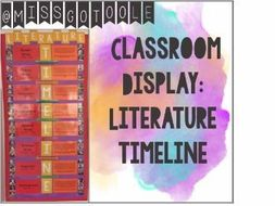 Literature Timeline/ Literary Time Periods Classroom Display