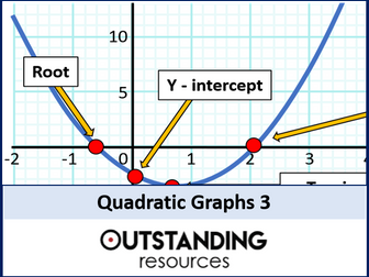 Quadratic Graphs 3 - Turning Points or Stationary Points (min and max)