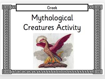 Greek Mythological Creatures Activity