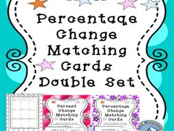 Percentage Change Matching Card Double Set