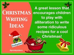 Christmas Poetry Writing Ideas - A Recipe Poem