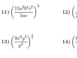 Powers of quotients worksheet no 3 (with solutions)
