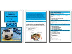 OCR Cambridge National in Sport Science - R045 - Sports Nutrition - Complete Writing Template