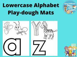 Beginning Sounds Lowercase Alphabet Play-dough Mats
