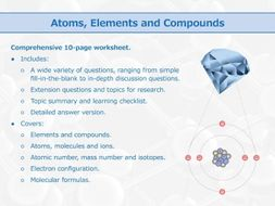 Atoms, Elements and Compounds [Worksheet]