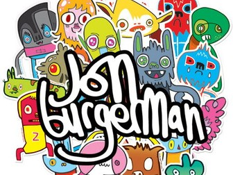 Jon Burgerman project Graphic design and illustration