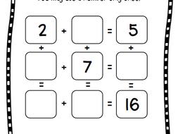 magic square puzzle bundle addition subtraction math facts by