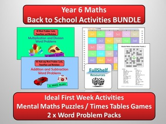 Back to School Maths (Year 6)
