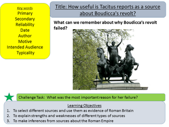 Year 7: Roman Britain and the Usefulness of sources  (Lesson 7)