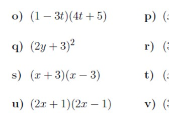 Expanding and factorising quadratics worksheet (with solutions)