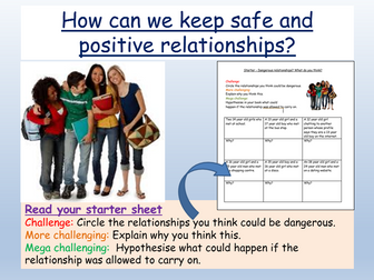 Safe + Healthy Relationships RSE