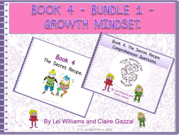 Book 4 - Bundle 1 - Growth Mindset – The Secret Recipe & Comprehension Question Pack by The World Of Whyse.