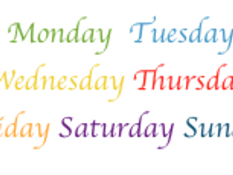 Days of the Week: A catchy song to help us remember!
