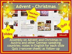 Christmas Assembly Quiz Germany Austria etc