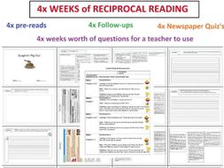 2# - Reciprocal Reading Booklet - 4 weeks of activities - Spaghetti Pig-Out- guided reading