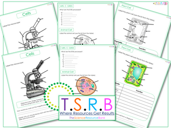 Animal Cell, Plant Cell and Microscope Label Worksheets